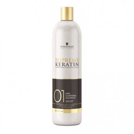 Schwarzkopf Professional Supreme Keratin Deep Clarifying Shampoo - Шампунь для глубокой очистки волос, 500мл