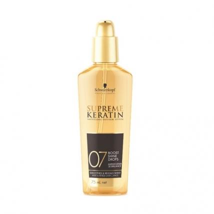 Schwarzkopf Professional Supreme Keratin Boost Shine Drops - Капли для блеска волос, 75мл