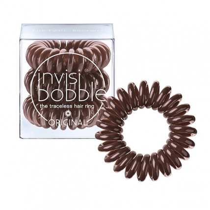 Invisibobble ORIGINAL Pretzel Brown - Резинка-браслет для волос, коричневая, 3шт