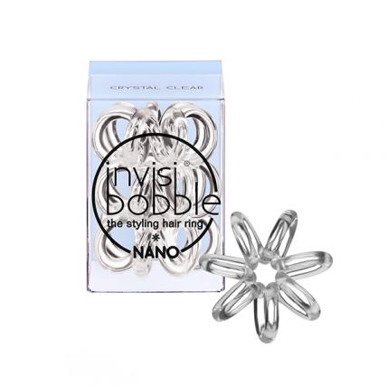 Invisibobble NANO Crystal Clear - Резинка для волос, прозрачная, 3шт