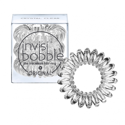 Invisibobble ORIGINAL Crystal Clear - Резинка-браслет для волос, прозрачная, 3шт