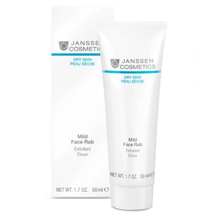 Janssen Cosmetics Dry Skin Mild Face Rub - Скраб мягкий с гранулами жожоба, 50мл