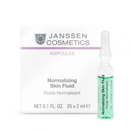 Janssen Cosmetics Ampoules Normalizing Fluid - Концентрат для ухода за жирной кожей, 25*2мл