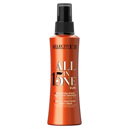 Selective Professional All In One Sun - Набор для волос после пребывания на солнце (Шампунь 250мл + Маска-спрей 150мл)