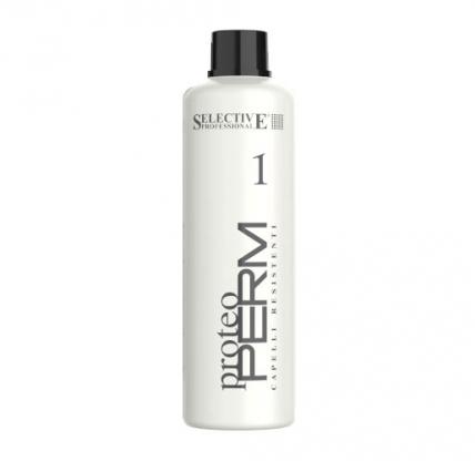 Selective Professional Proteo Perm 1 - Химическая завивка для нормальных волос, 1000мл
