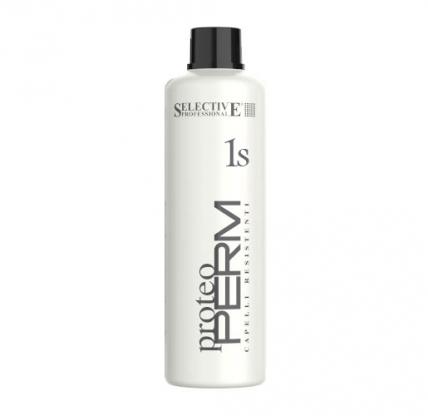 Selective Professional Proteo Perm 1S - Химическая завивка для жестких волос, 1000мл