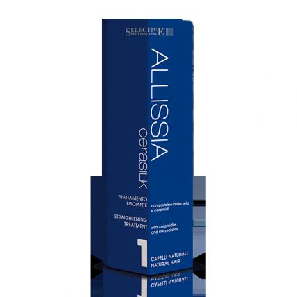 Selective Professional Kit Allisia Cerasilik Per Capelli Normali - Набор для выпрямления натуральных волос, 150мл+100мл+100мл