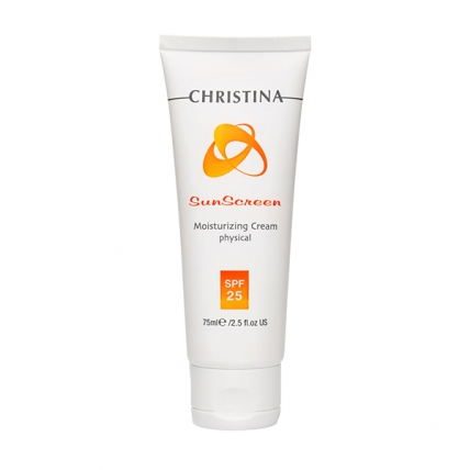 Christina Sunscreen Moisturizing Cream With Vitamin E Physical - Крем солнцезащитный SPF25, 75мл