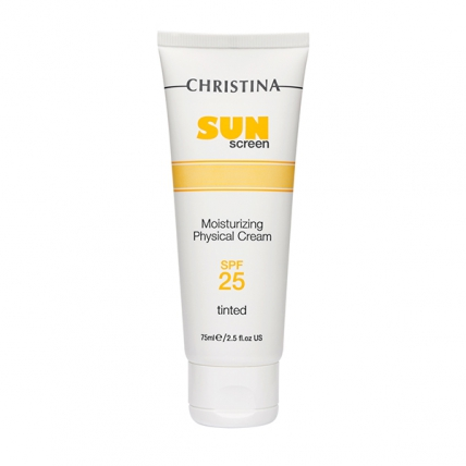 Christina Sunscreen Moisturizing Cream With Vitamin E Physical Tinted - Тональный крем солнцезащитный SPF25, 75мл