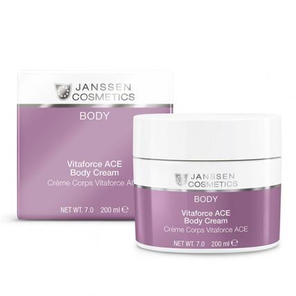 Janssen Cosmetics Vitaforce ACE Body Cream - Насыщенный крем для тела с витаминами A, C и E, 200мл