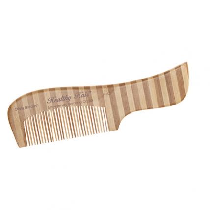 Olivia Garden - Гребень для волос бамбуковый с ручкой изогнутый С2