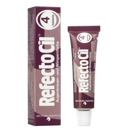 RefectoCil №4 - Краска для бровей и ресниц (каштан), 15мл