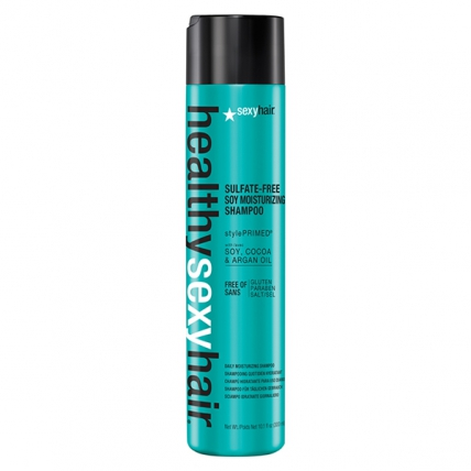 SexyHair Sulfate Free Soy Moisturizing Shampoo - Шампунь на соевом молоке для обычных и окрашенных волос, 300мл