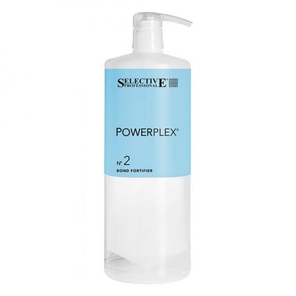 Selective Professional PowerPlex №2 Bond Fortifier - Средство для предотвращения повреждения волос при химических процедурах, 1000мл