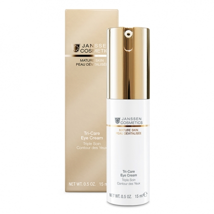 Janssen Cosmetics Mature Skin Tri-Care Eye Cream - Крем омолаживающий укрепляющий для контура глаз, 15мл