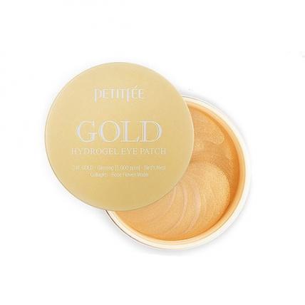 Petitfee Gold Hydrogel Eye Patch - Гидрогелевые патчи для области вокруг глаз с 24-каратным коллоидным золотом, 60шт