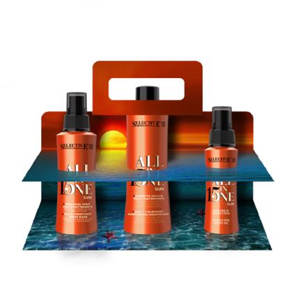 Selective Professional All In One Sun - Набор для волос после пребывания на солнце (шампунь, маска-спрей, масло)