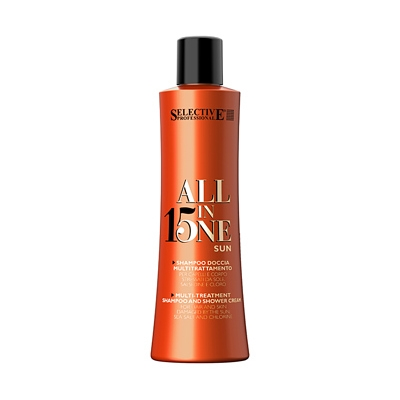 Selective Professional All In One Sun - Шампунь для волос после пребывания на солнце, 250мл