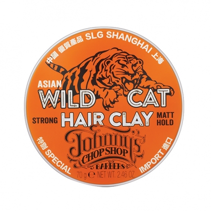 Johnny's Chop Shop Wild Cat Hair Clay - Глина для устойчивой фиксации волос, 70гр