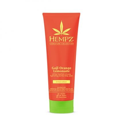 Hempz Goji Orange Lemonade Herbal Body Wash - Гель для душа Годжи Апельсиновый Лимонад, 250мл