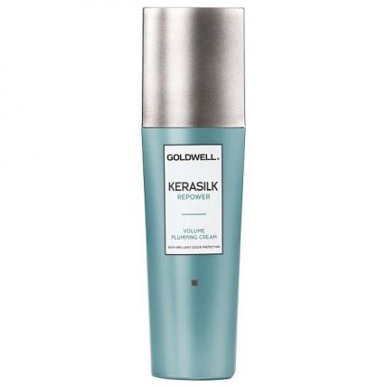 Goldwell Kerasilk Premium Repower Volume Plumping Cream – Легкий термозащитный крем для объема, 75мл