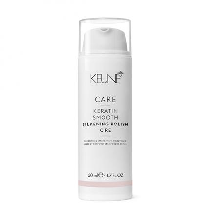 Keune Care Keratin Smooth Silk Polish - Крем Шелковый глянец с кератиновым комплексом, 50мл