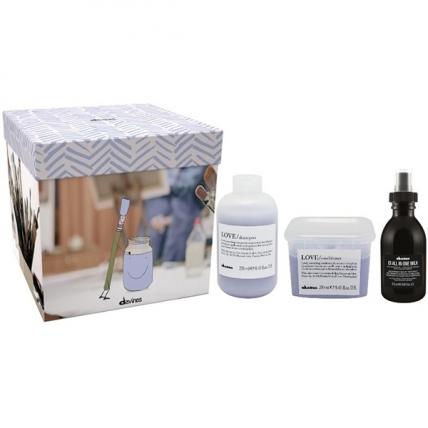 Davines Love Smoothing Gift Box - Набор для разглаживания завитка