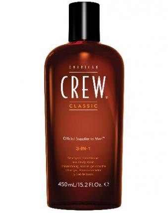 American Crew Classic 3in1 - Шампунь, кондиционер и гель для душа 3в1, 450мл