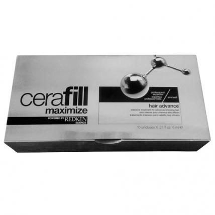 Redken Cerafill Maximize Aminexil Hair Advance - Ампулы против истончения волос, 10*6мл