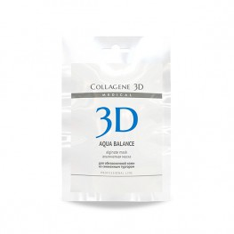 Medical Collagene 3D Aqua Balance - Альгинатная маска для лица и тела с гиалуроновой кислотой, 30гр