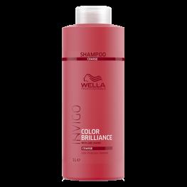 Wella Professionals Invigo Brilliance - Шампунь для защиты цвета окрашенных жестких волос, 1000мл
