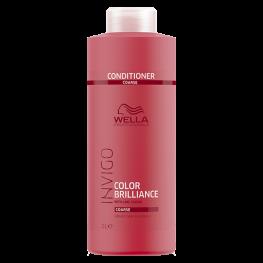 Wella Professionals Invigo Brilliance - Бальзам-уход для защиты цвета окрашенных жестких волос, 1000мл