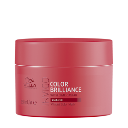 Wella Professionals Invigo Brilliance - Маска-уход для защиты цвета окрашенных жестких волос, 150мл