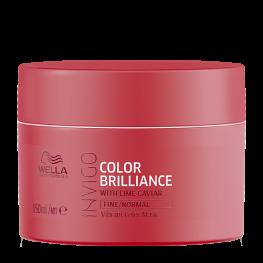 Wella Professionals Invigo Brilliance - Маска-уход для защиты цвета окрашенных нормальных и тонких волос, 150мл