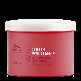 Wella Professionals Invigo Brilliance - Маска-уход для защиты цвета окрашенных нормальных и тонких волос, 500мл