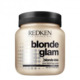 Redken Blonde Glam Pure Lightening Cream Power Lift - Осветляющая паста для волос с аммиаком, осветление 1-5 уровня тона, 500гр