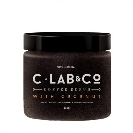 C Lab&Co Coffee Scrub - Кофейный скраб с кокосом для тела, 330г